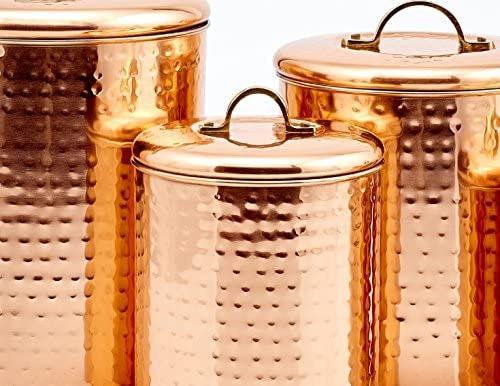 Old Dutch International(オールドダッチインターナショナル) キャニスターセット 4qt 2qt 1½qt 1qt 1qt 銅の商品画像4