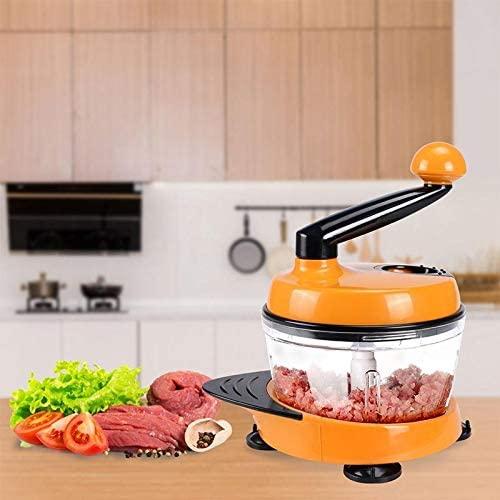 LULAA(ルルア)みじん切り器 多機能スライサー チョッパー 改良版 オレンジの商品画像2