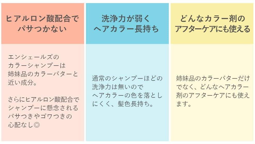エンシェールズ カラーシャンプー ホットピンクの商品画像5