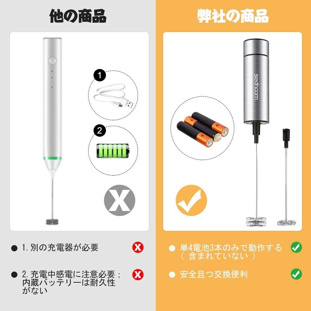 Sedhoom(セドゥーム) ミルク泡立て器 ステンレスの商品画像2