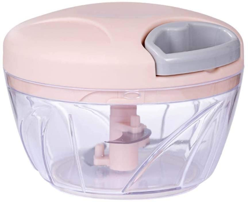 サチュリー ハンドチョッパー手動フードプロセッサー ピンクの商品画像