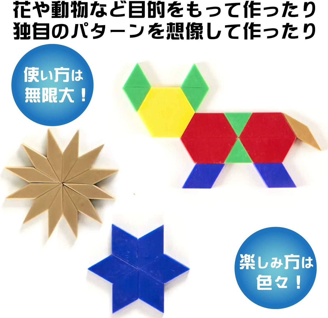 Learning Resources(ラーニングリソーシズ) パターンブロック LER0134の商品画像4