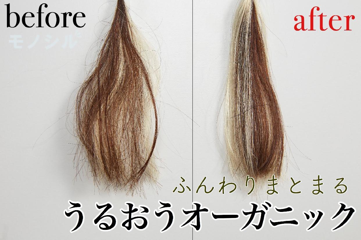 THE PUBLIC ORGANIC(ザ パブリック オーガニック) スーパー リフレッシュ トリートメントの使用して効果を比較した毛髪