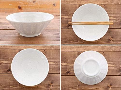 TABLE WARE EAST.(テーブルウェアイースト) 粉引 しのぎ刷毛目 6.3寸ラーメンどんぶり  2個セットの商品画像5