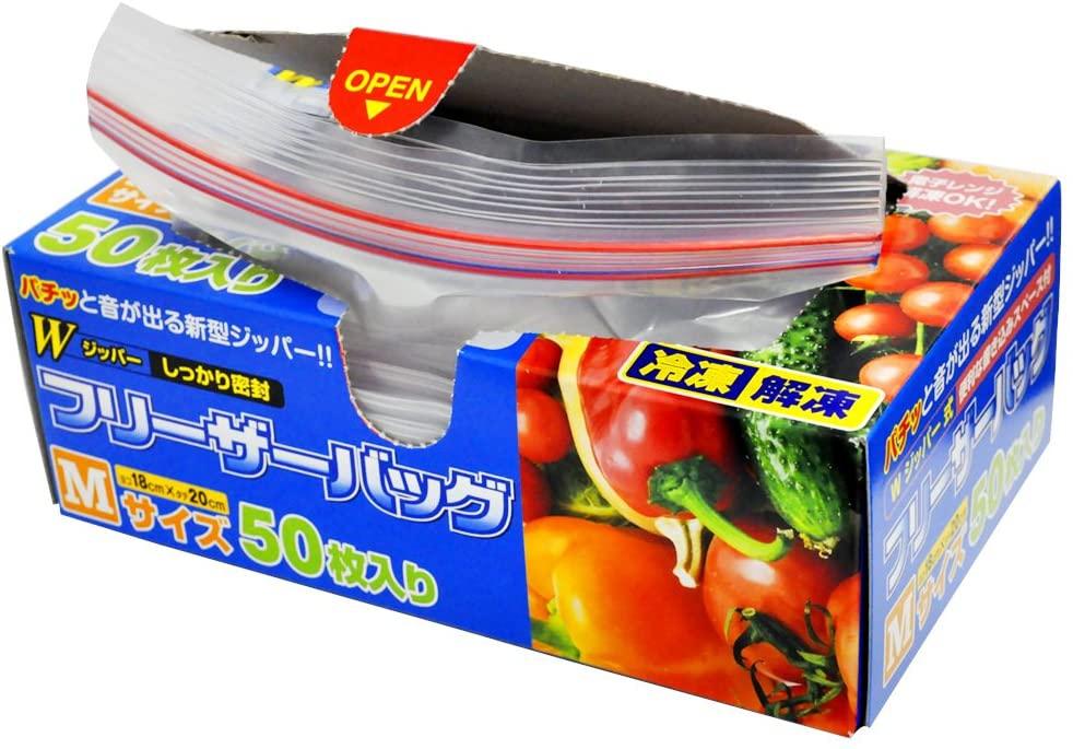 クルー Wジッパー フリーザーバッグ Mサイズの商品画像
