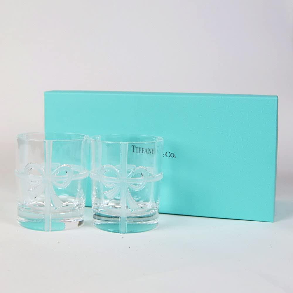 TIFFANY&Co(ティファニー) ボウ グラスセット 2点セット215ml (名入れなし)の商品画像