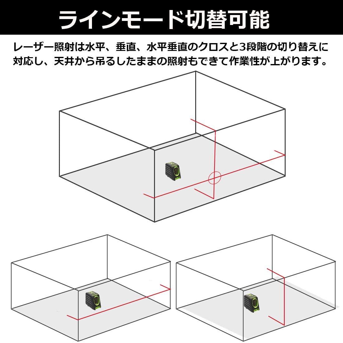 Huepar(ヒューパー) 2ライン レーザー墨出し器 M-BOX-1Rの商品画像2