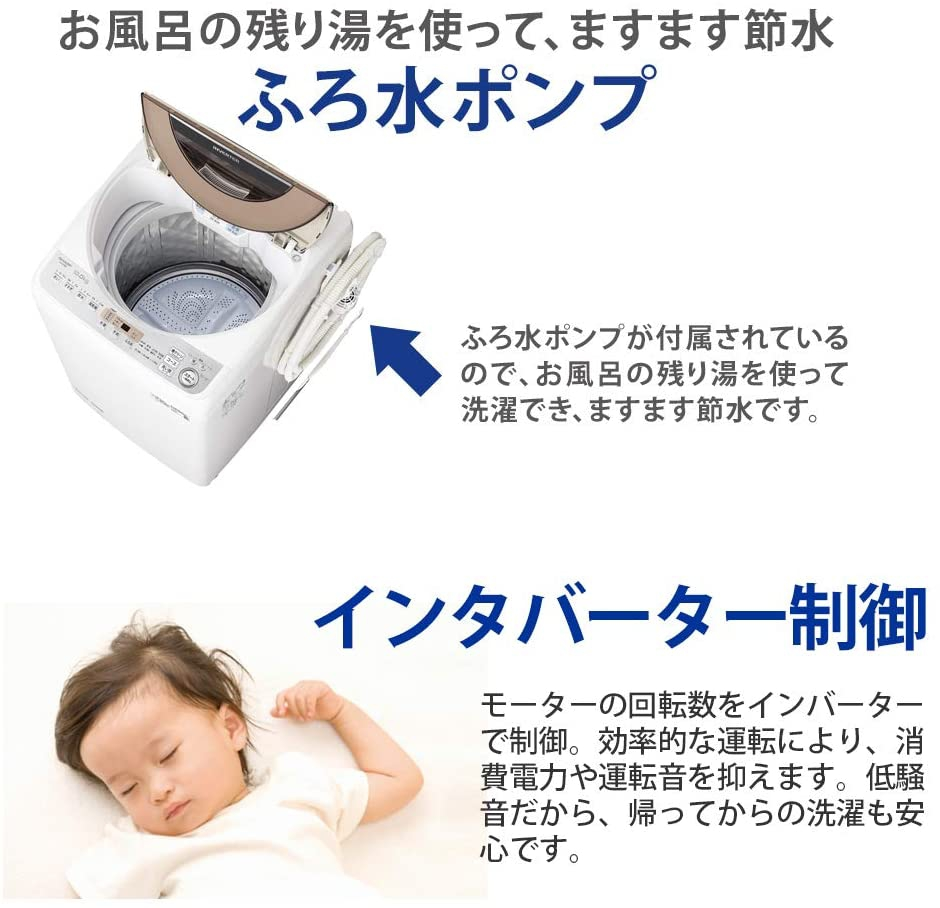 SHARP(シャープ) 全自動洗濯機 ES-GV10Dの商品画像6