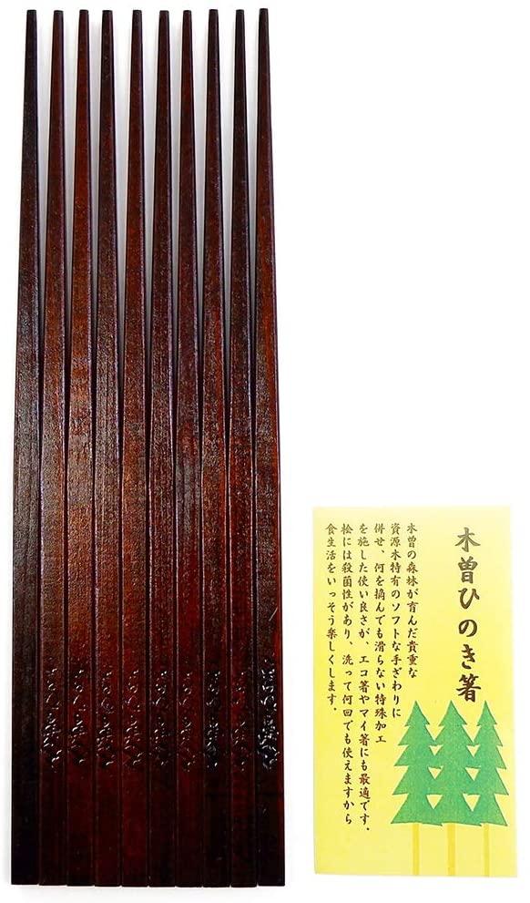 はりま屋(ハリマヤ) 木曽ひのき箸 5膳セット 22.0cmの商品画像5