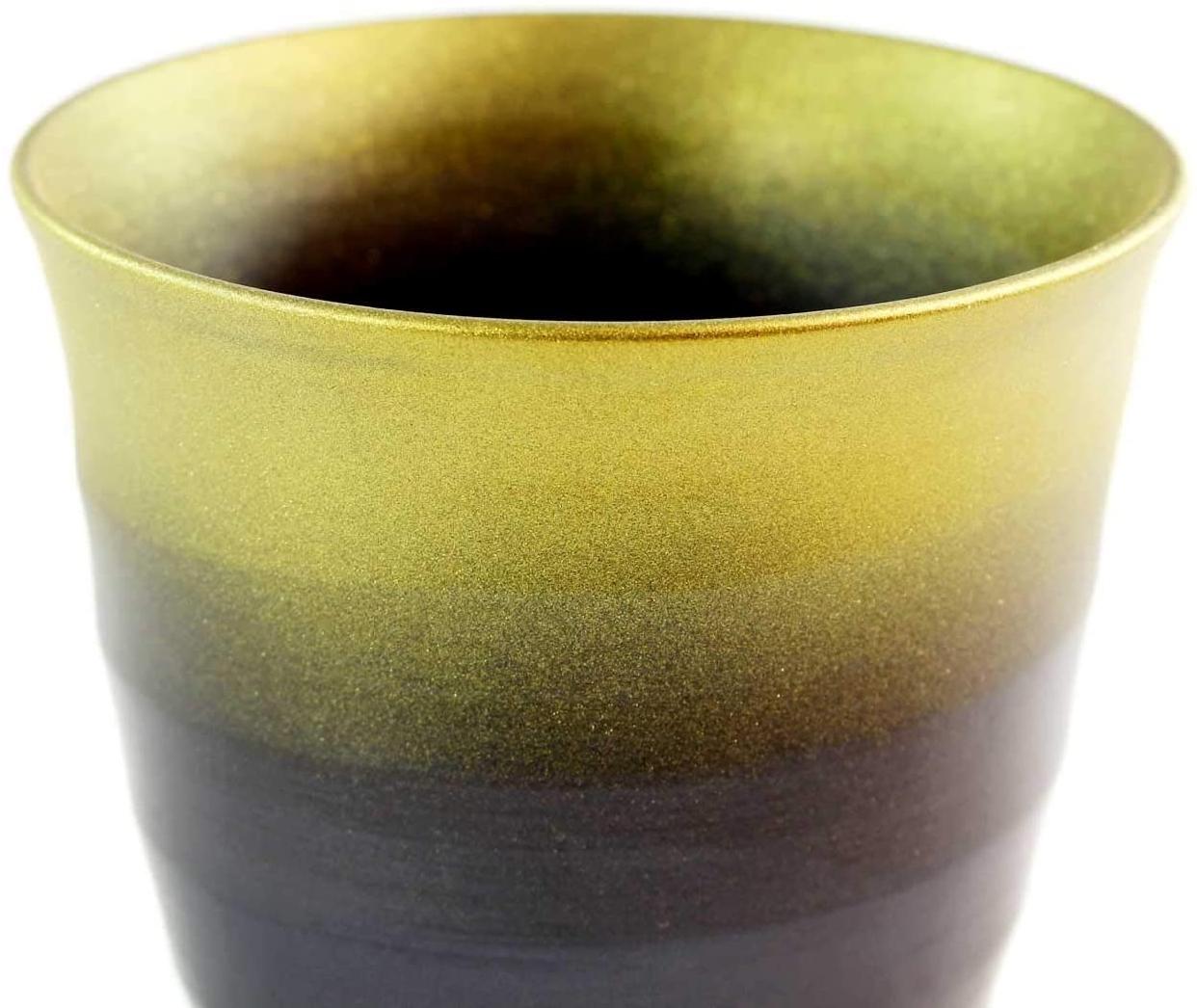 藤井錦彩窯(ふじいきんさい)窯変金彩焼酎カップの商品画像4