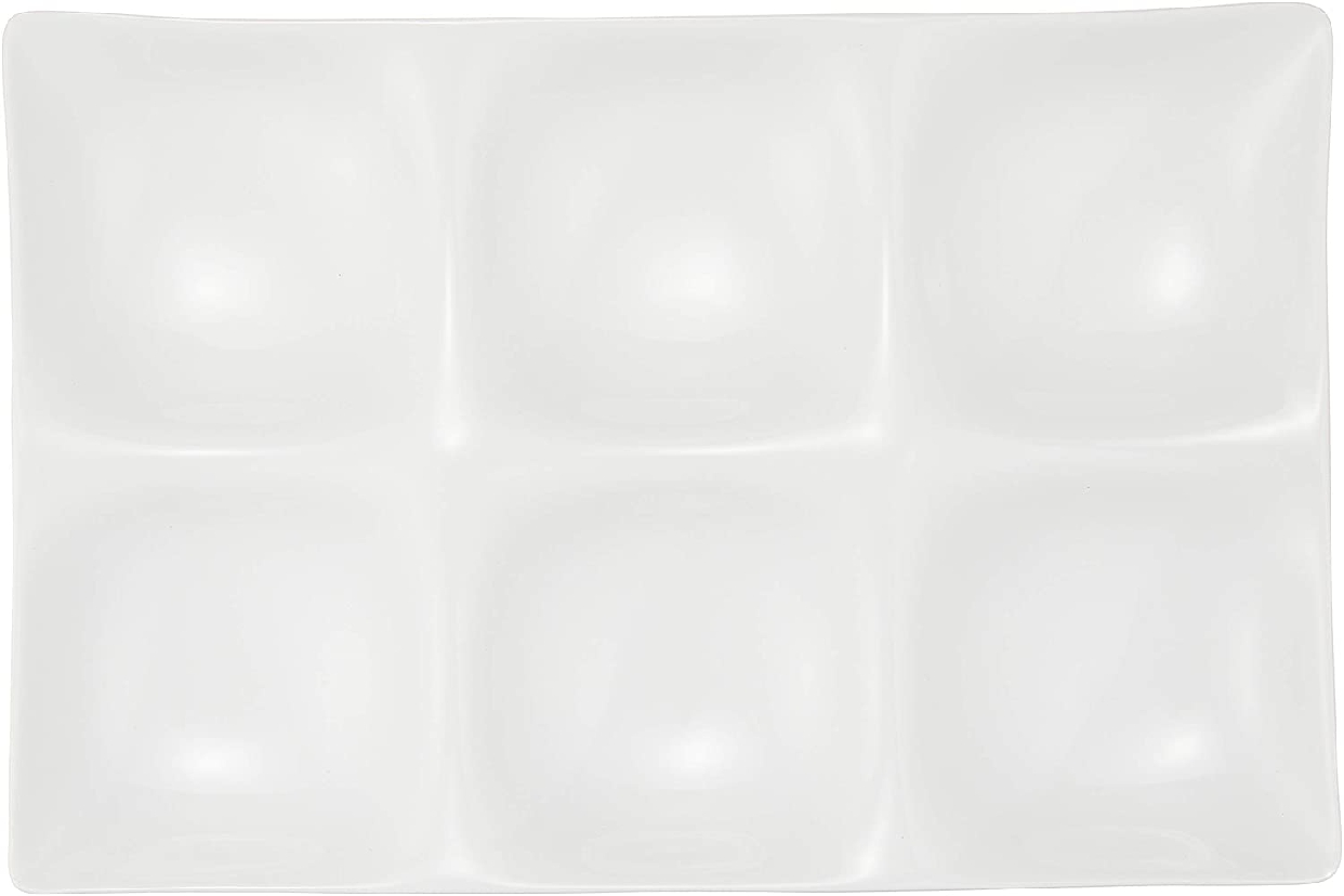 kowake(コワケ) 6つ仕切り皿 3枚セット 白磁の商品画像