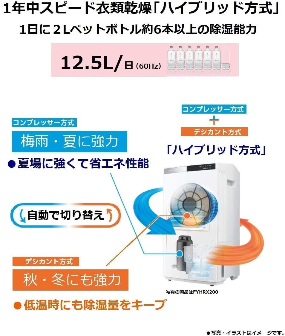 Panasonic(パナソニック) ハイブリッド方式衣類乾燥除湿機 F-YHSX120の商品画像2