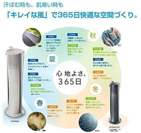 DeLonghi(デロンギ) 空気清浄機能付き スリムファン HFX85W14Cの商品画像6