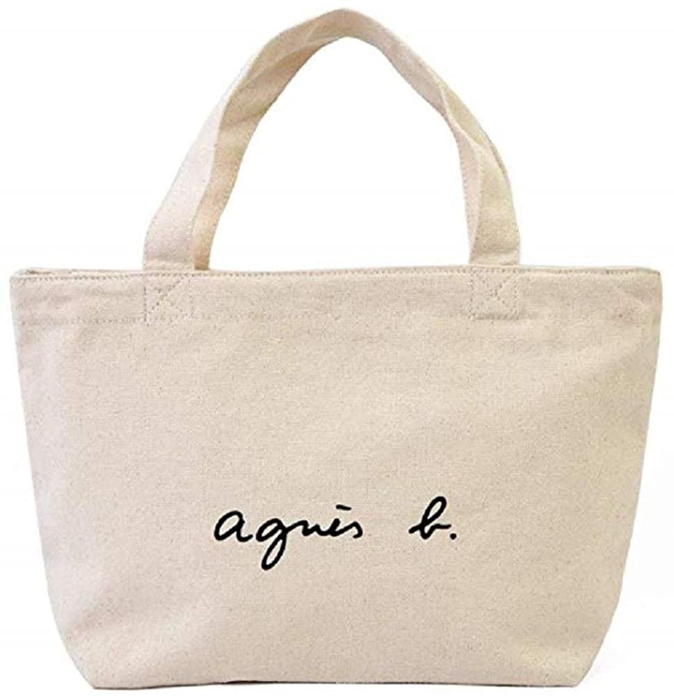 agnes b.(アニエスベー)ロゴトートバッグ ホワイト GO03‐02の商品画像
