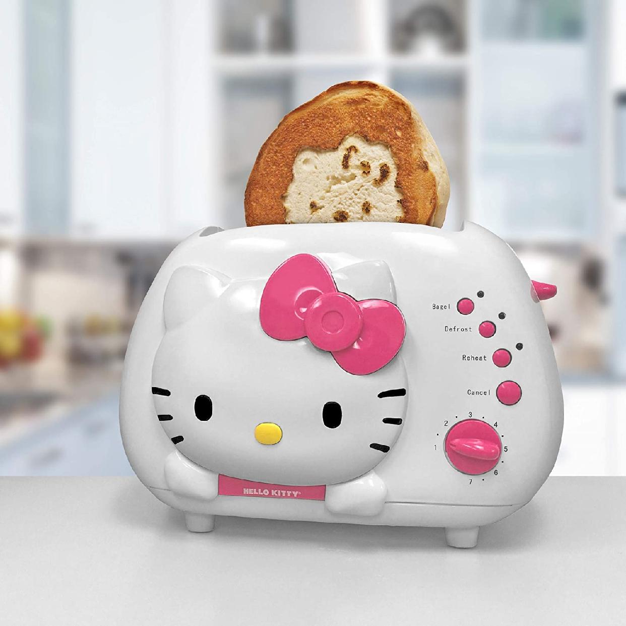 Hello Kitty(ハローキティ) ポップアップトースター 2-Slice Wide slot toaster  ホワイト KT5211の商品画像2