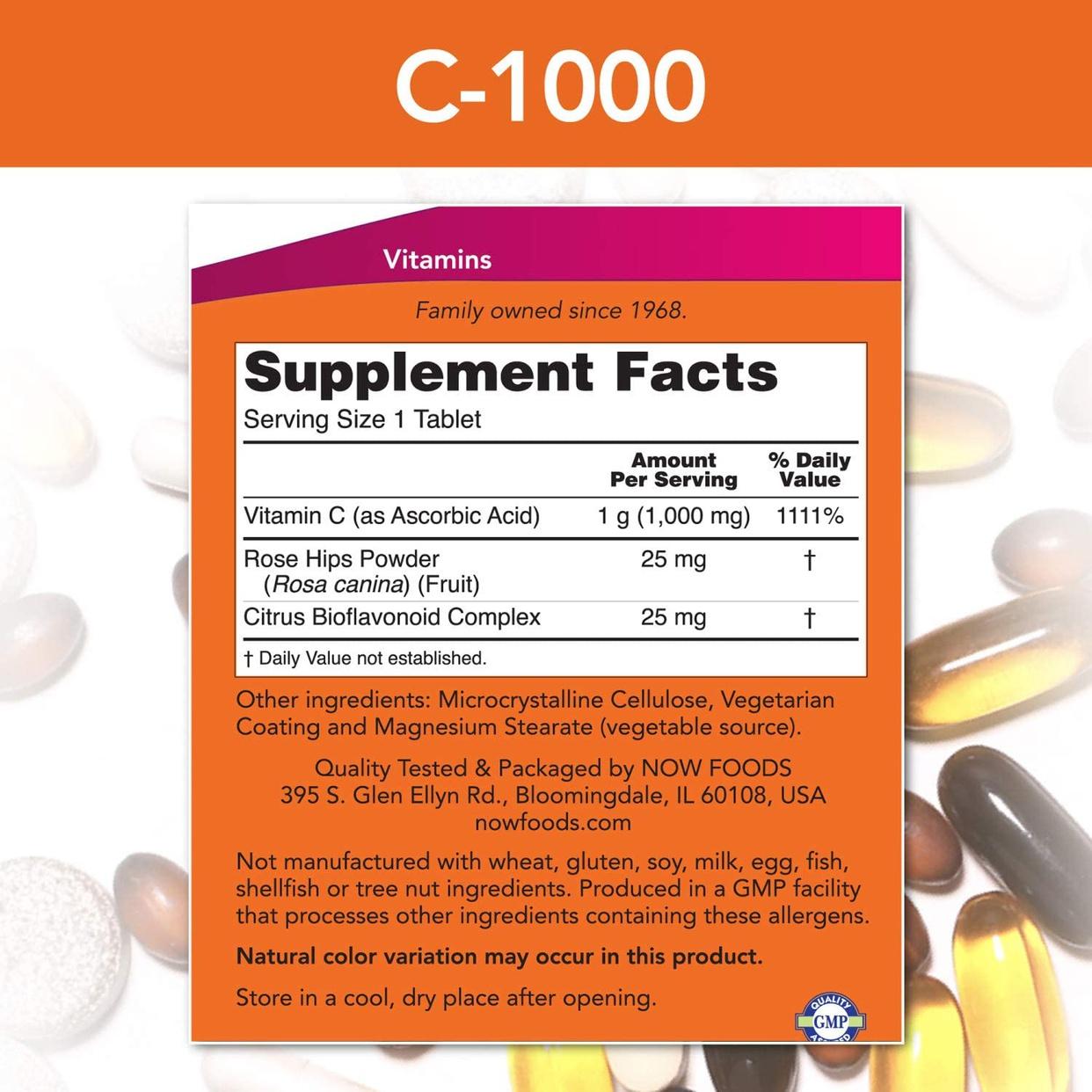 Now Foods(ナウフーズ) C-1000+ローズヒップ&バイオフラボノイドの商品画像2