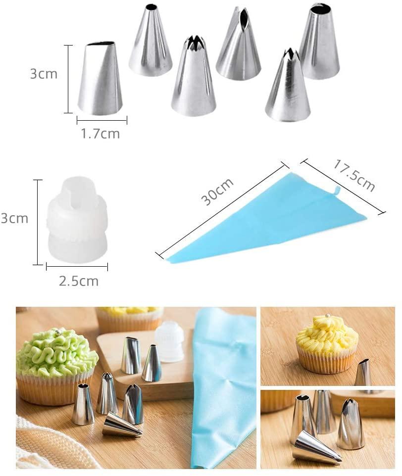 VKING(ブイキング) 絞り袋 6点口金 クリーム絞り出し袋 3枚入 ブルーの商品画像4