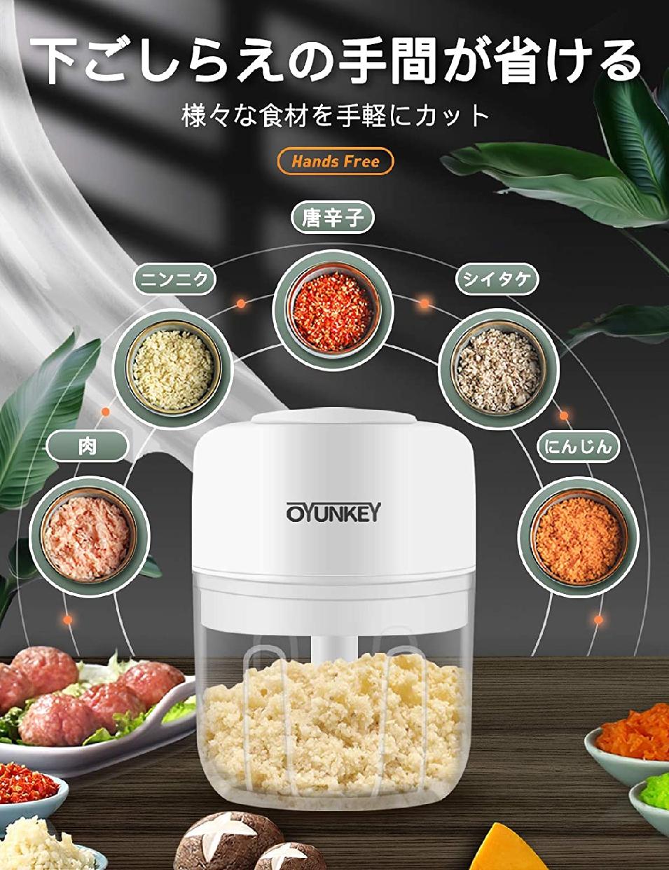 OYUNKEY(オーワイユーキー)みじん切り器 電動 チョッパーの商品画像2