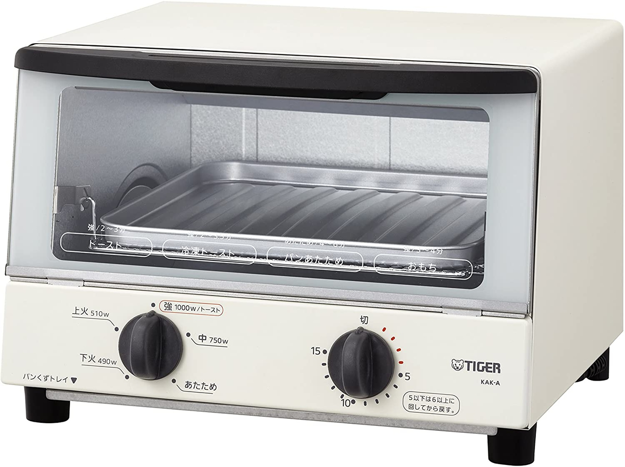 タイガー魔法瓶(TIGER) オーブントースター<やきたて> KAK-A100-Wの商品画像