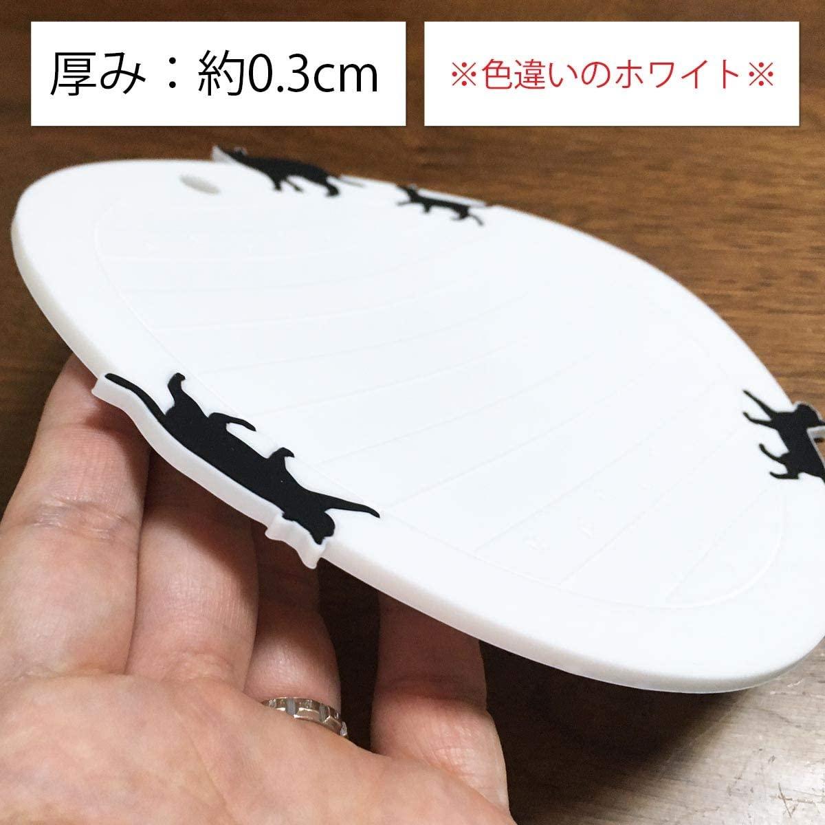 大西賢製販 ネコ シリコン鍋敷き 丸型 BLACK ASC-1402の商品画像2