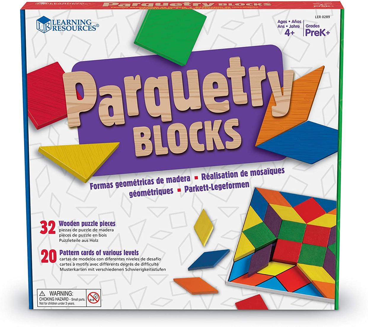 Learning Resources(ラーニングリソーシズ) Parquetry Blocks Super Set LER0289の商品画像