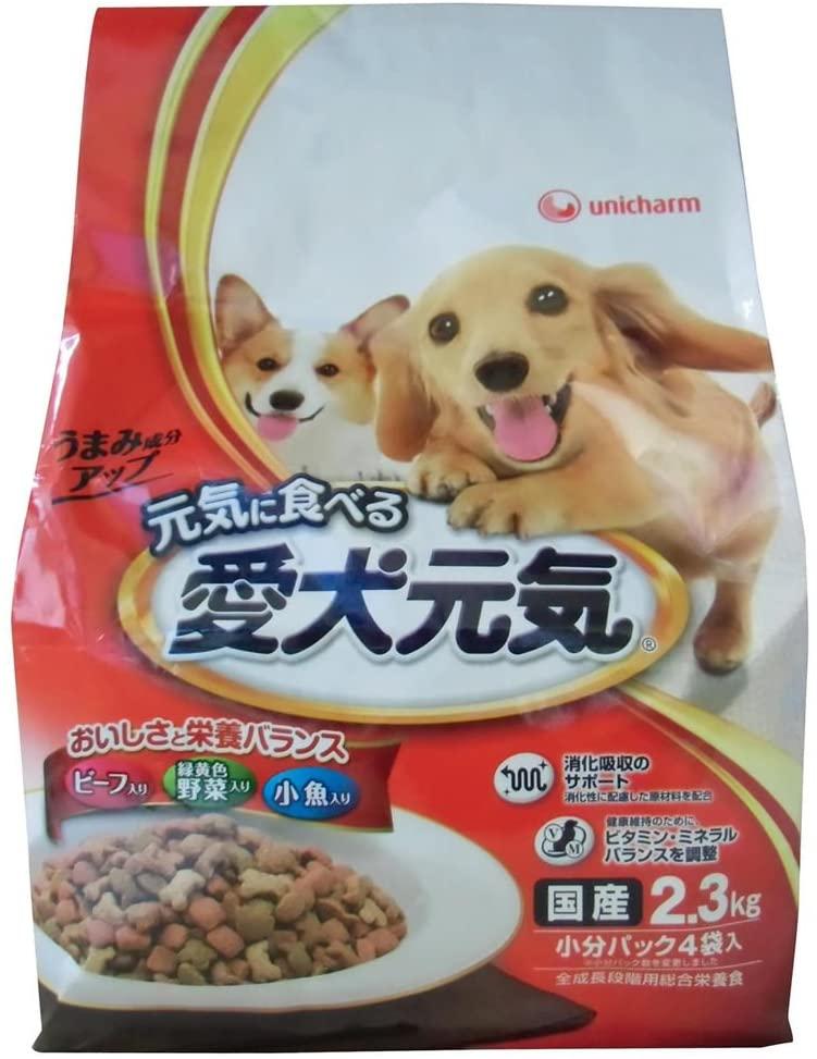 unicharm(ユニチャーム) 愛犬元気 全成長段階用 ビーフ・緑黄色野菜・小魚入りの商品画像