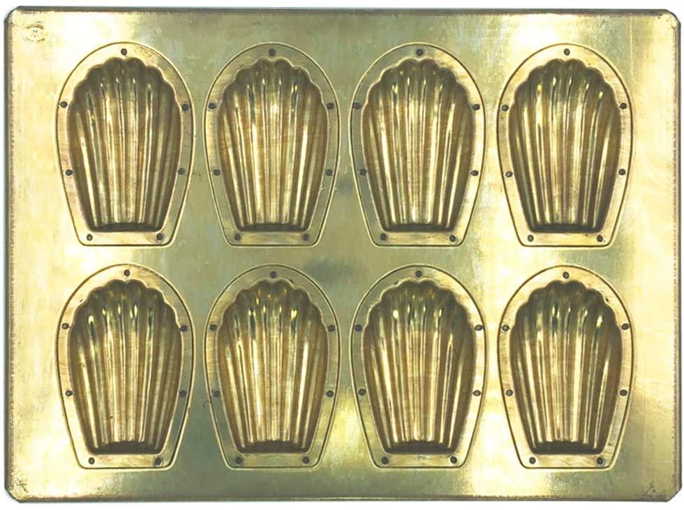 松永製作所(マツナガセイサクジョ) シリコン加工 マドレーヌ天板8P ゴールド MS1の商品画像