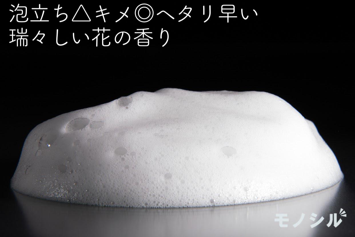 amenimo(アメニモ) H2O バランスケア シャンプーの商品の泡立ち