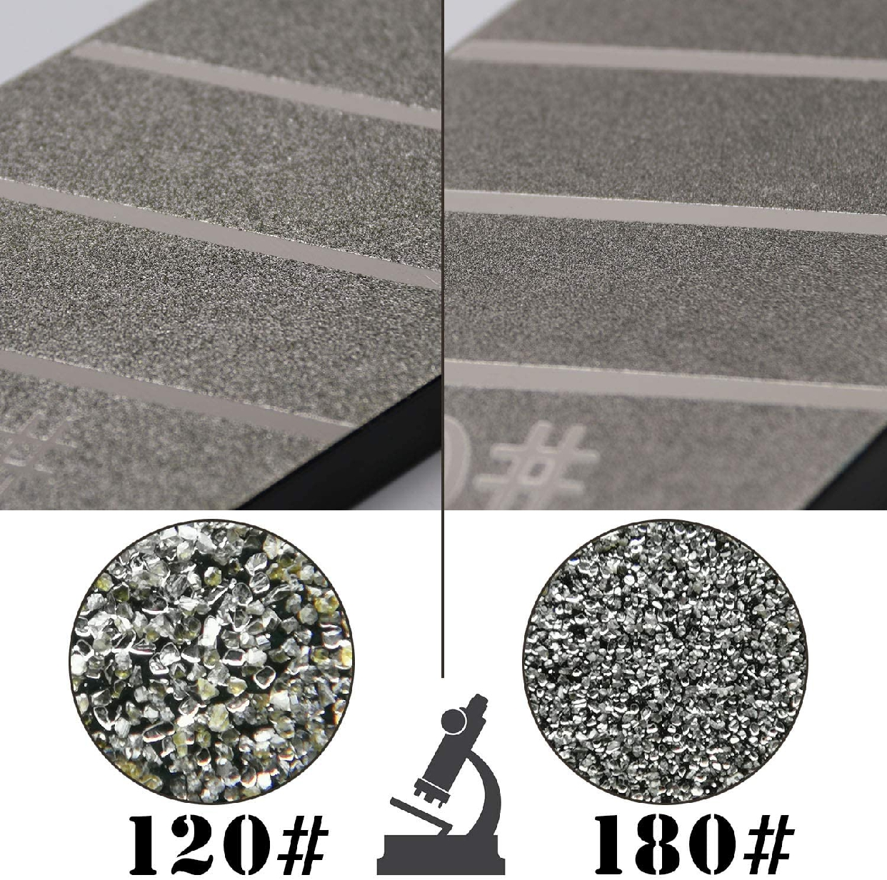 GOKEI 面直し用砥石 両面2役タイプ #180/#120 258×75×13mmの商品画像4