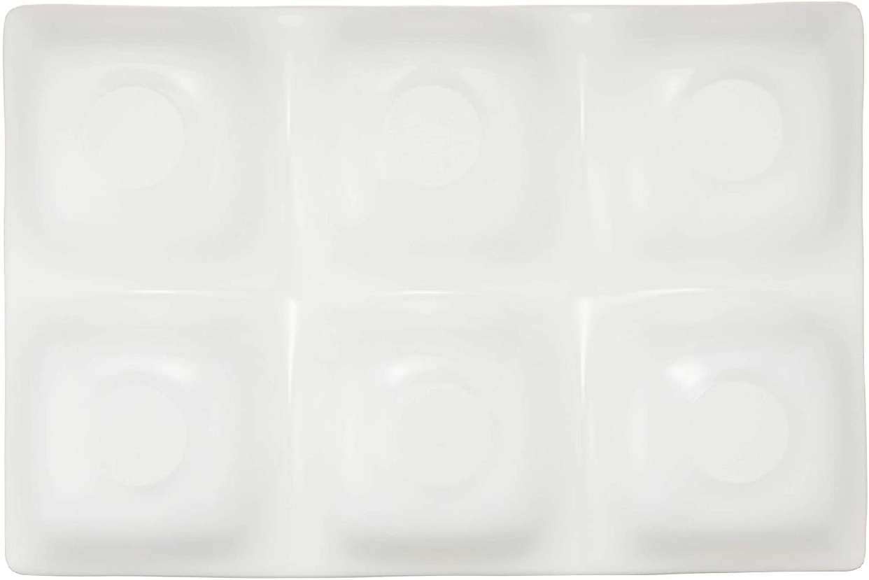 kowake(コワケ) 6つ仕切り皿 3枚セット 白磁の商品画像3