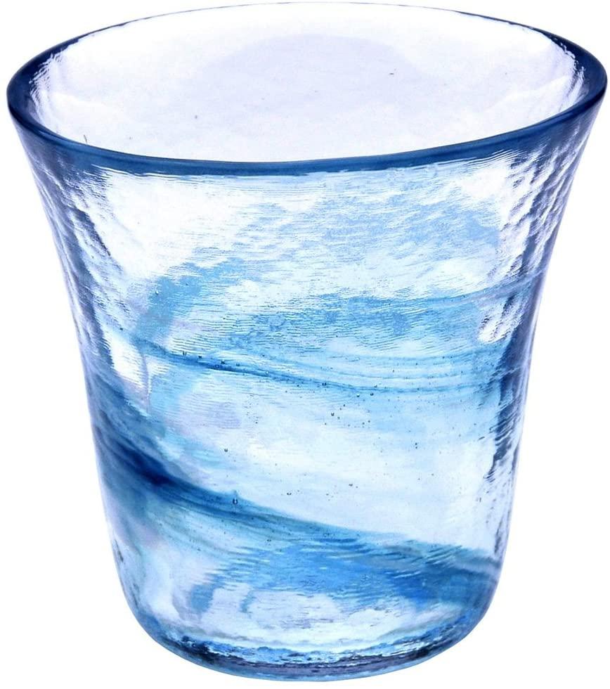 月夜野工房(つきやのこうぼう)我が家の一杯 焼酎グラス S 青 T1-0240-Bの商品画像