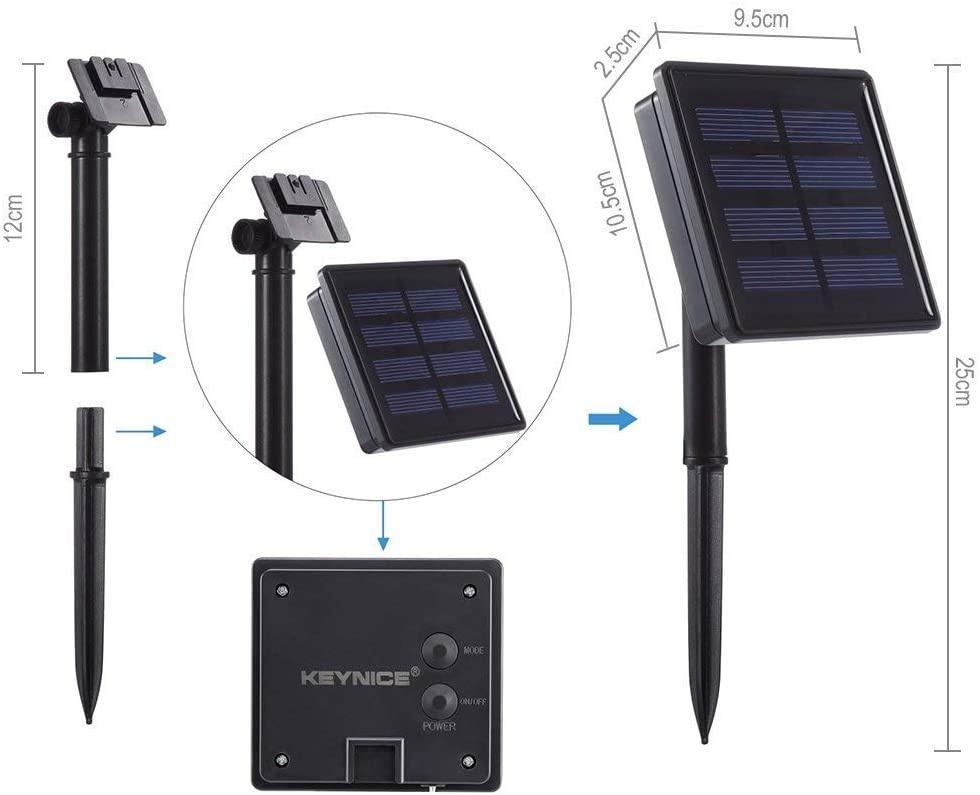 KEYNICE(キーナイス) ソーラー イルミネーションライト JE100Dの商品画像9