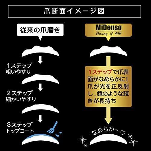 Midenso(ミデンソ) ネイルファイル 爪やすり 爪磨き ケース付きの商品画像5