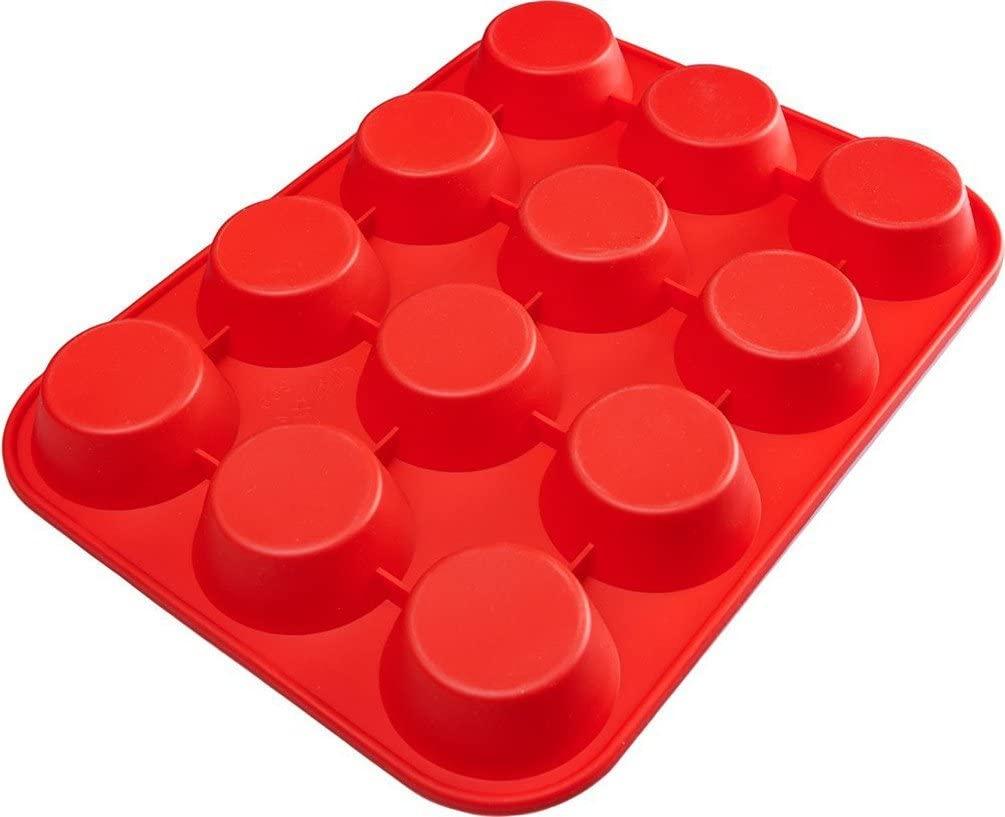 ピクセルマフィン型 (12個取り)レッドの商品画像2