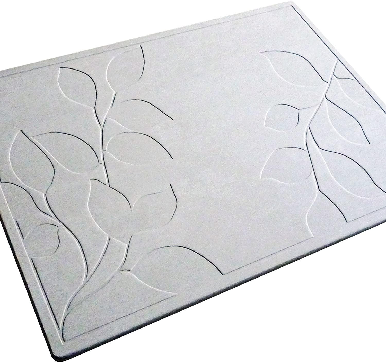 ASUWELL(アスウェル)珪藻土バスマット フォリアージ柄の商品画像