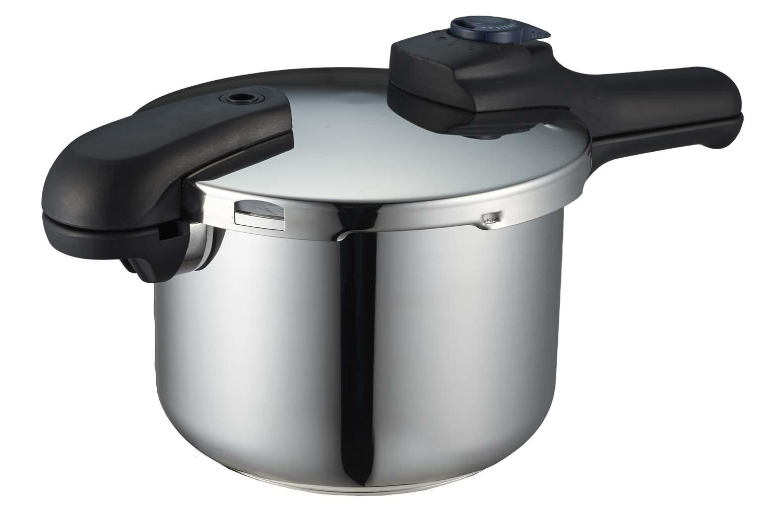 パール金属(PEARL) クイックエコ 3層底切り替え式圧力鍋 H-5041の商品画像