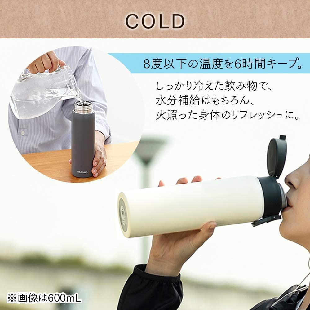 IRIS OHYAMA(アイリスオーヤマ)ステンレスケータイボトル ワンタッチ SB-O500の商品画像4