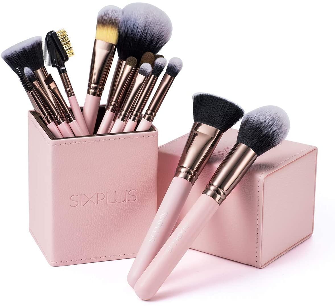 SIXPLUS(シックスプラス) メイクブラシ ロマンチックなピンク色 15本セットの商品画像