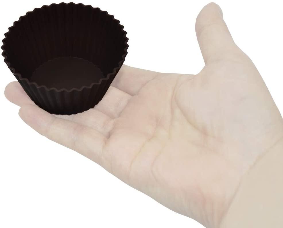 Kai House SELECT(カイハウスセレクト)型ばなれしやすいシリコーン製のマフィンカップ4個入り DL6354 ブラウンの商品画像6