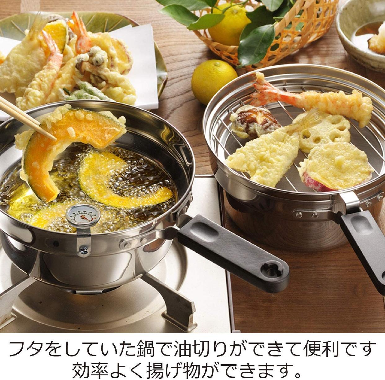 AUX(オークス)日本製 IH対応 片付け簡単 天ぷら鍋セット オイルポット 温度計付 シルバー T23の商品画像8