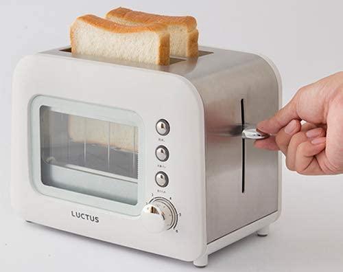 LUCTUS(ラクタス) 焼き目の見えるポップアップトーター ホワイト SE6100の商品画像6