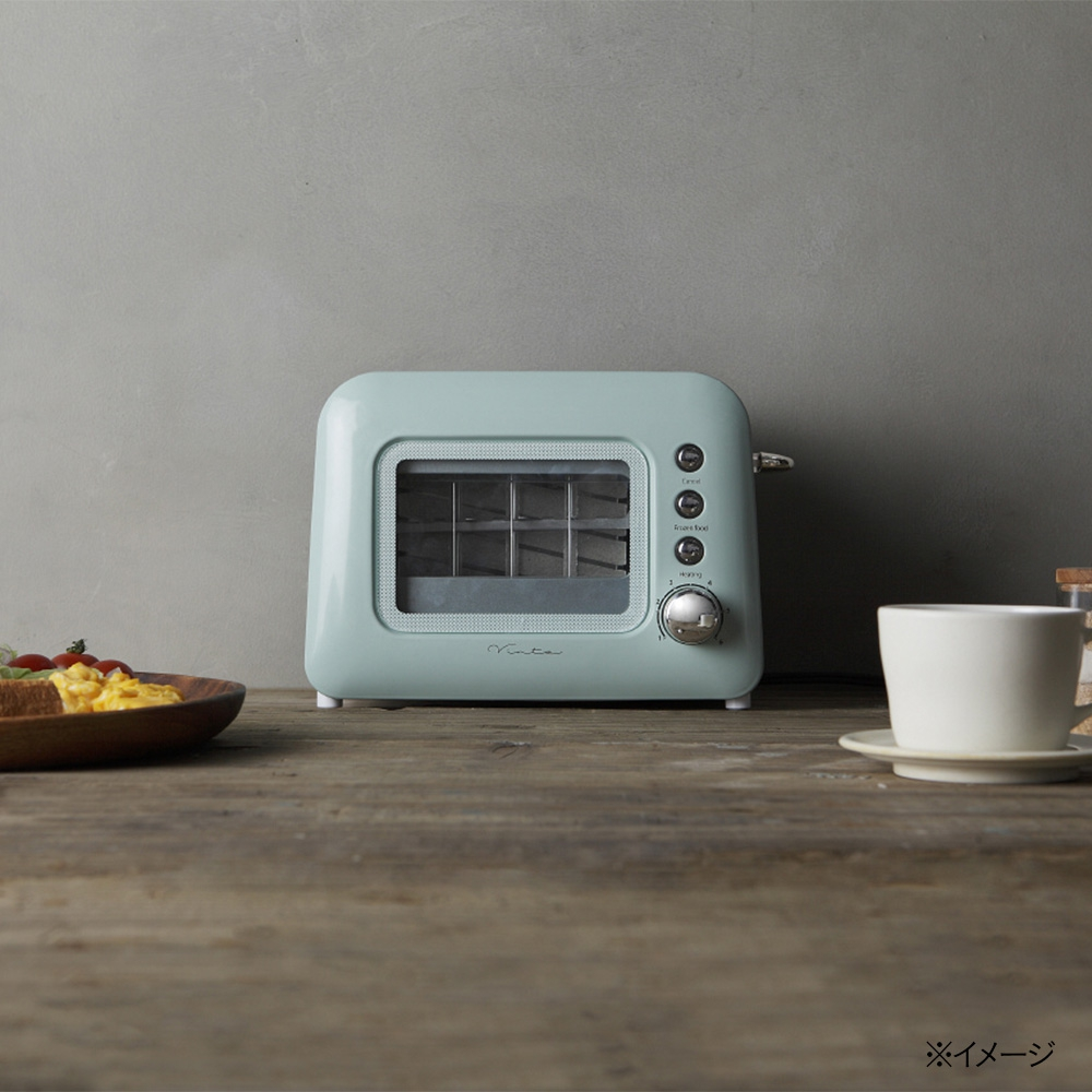 cainz home(カインズ) 【Vinte家電】ポップアップトースター グリーンの商品画像4