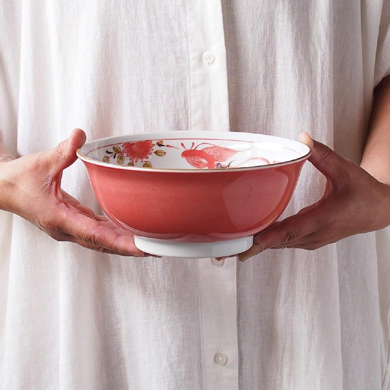 みのる陶器 赤巻ラーメン丼 6.3寸の商品画像6