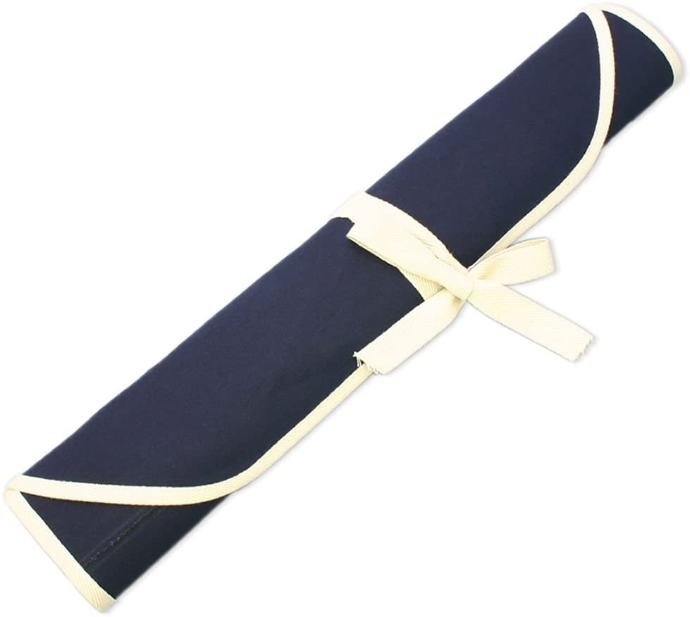 一文字厨器 包丁ケース 布巻きタイプ M(6本用) 紺色の商品画像