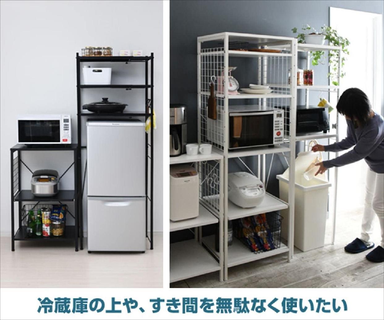 YAMAZEN(ヤマゼン)すっきりキッチンラック 伸縮タイプ/RPE-3 幅50-79.5cmの商品画像14