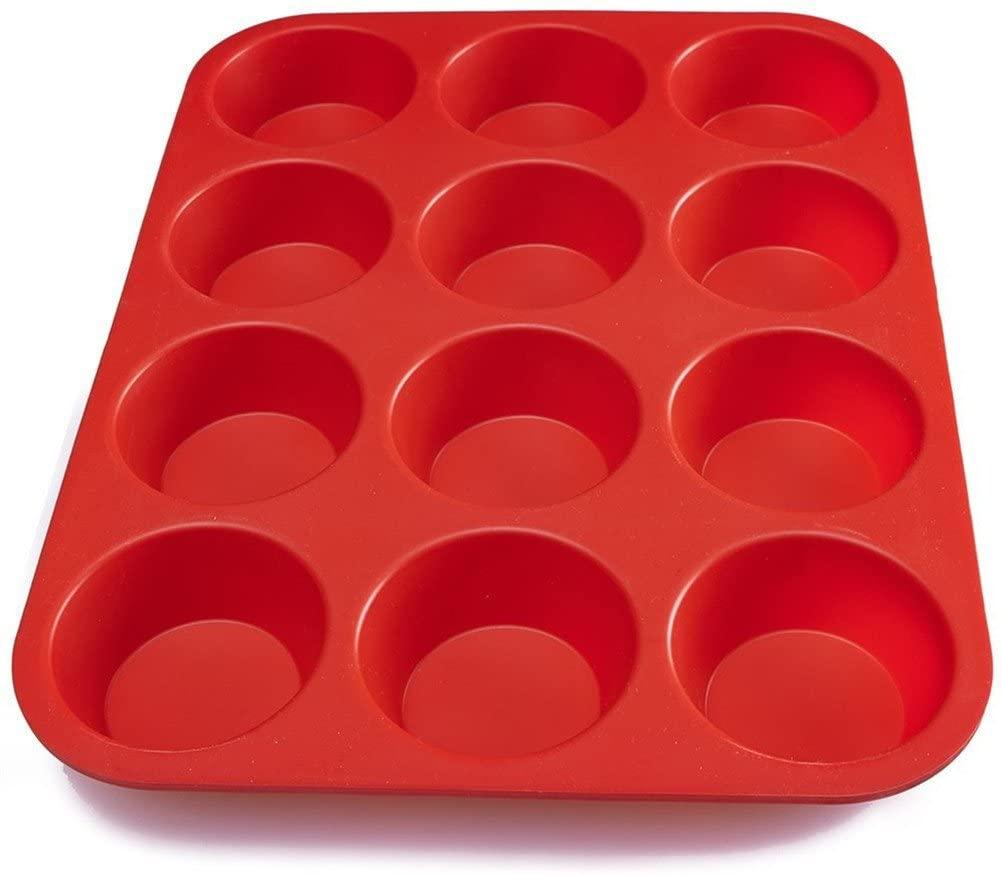 ピクセルマフィン型 (12個取り)レッドの商品画像3