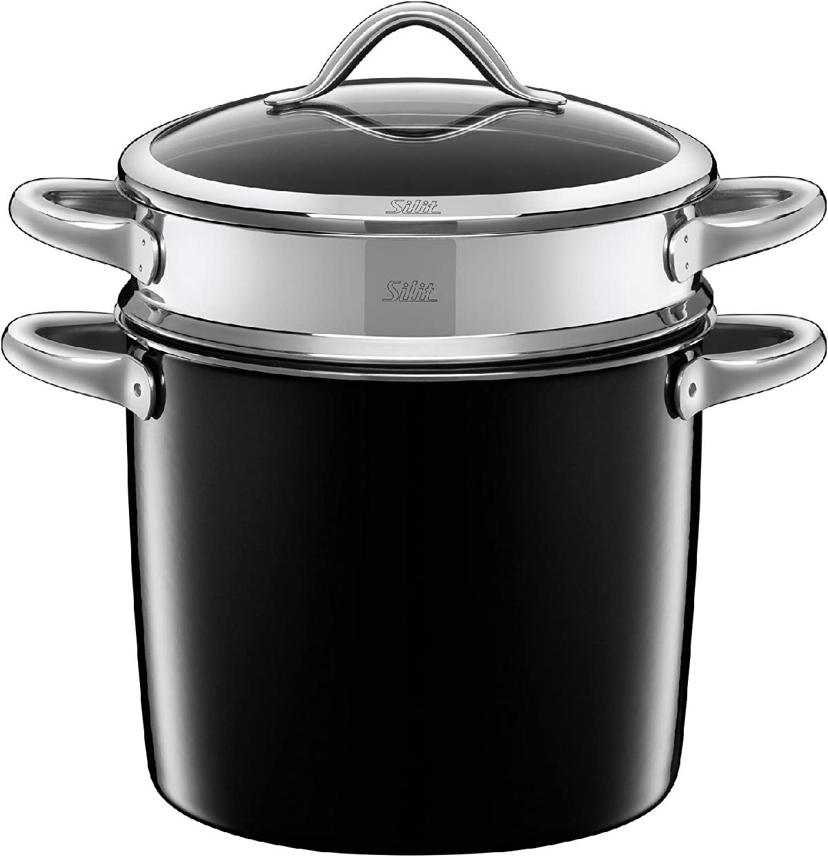 Silit(シリット)ヴィタリアーノ パスタポット24cm ネロ ブラック S0524185011の商品画像