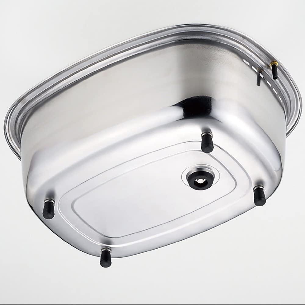 Arnest(アーネスト) 脚付 ステンレス 洗い桶 中栓付き A-75435 ステンレスの商品画像4