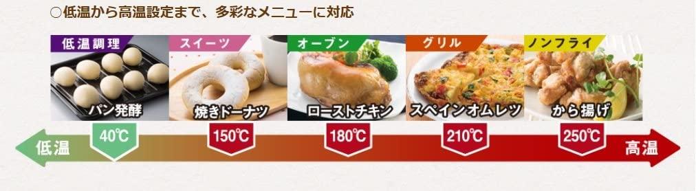 日立(HITACHI) コンベクションオーブントースターHMO-F100の商品画像12