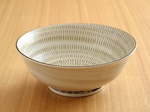 TABLE WARE EAST.(テーブルウェアイースト) ラーメン鉢 美濃民芸 アイボリー(かんな目)の商品画像